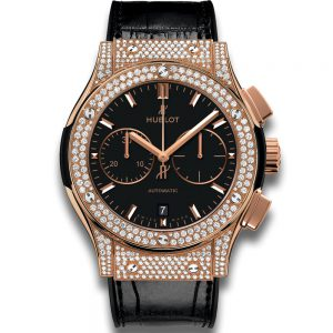 Hublot Classic Fusion Chronograph King Gold Pave