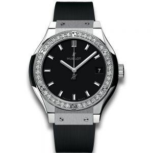 Hublot Classic Fusion Titanium Diamonds Quartz